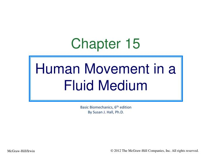 PPT Chapter 15 Human Movement In A Fluid Medium PowerPoint