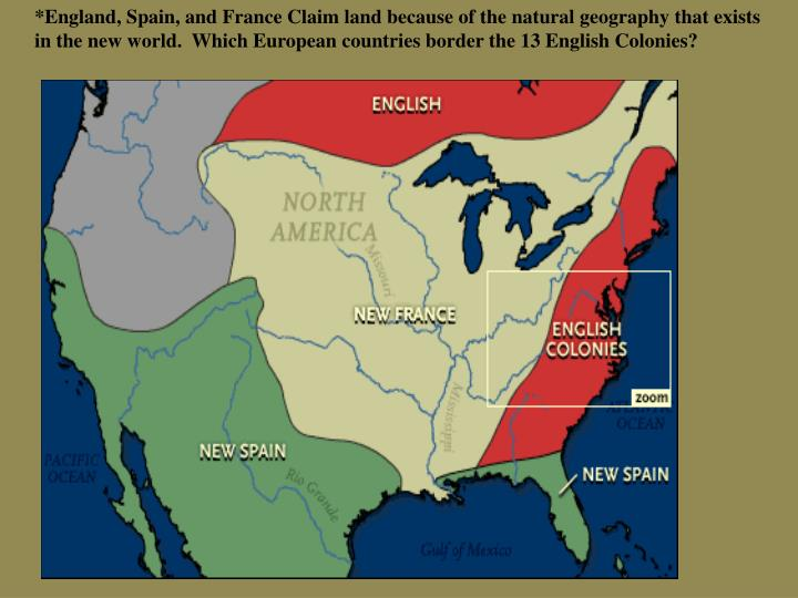 unity and identity in the colonies English colonies pacing 10 days (block) unit overview  3 how is the identity of a region shaped by the geography of that region and the.