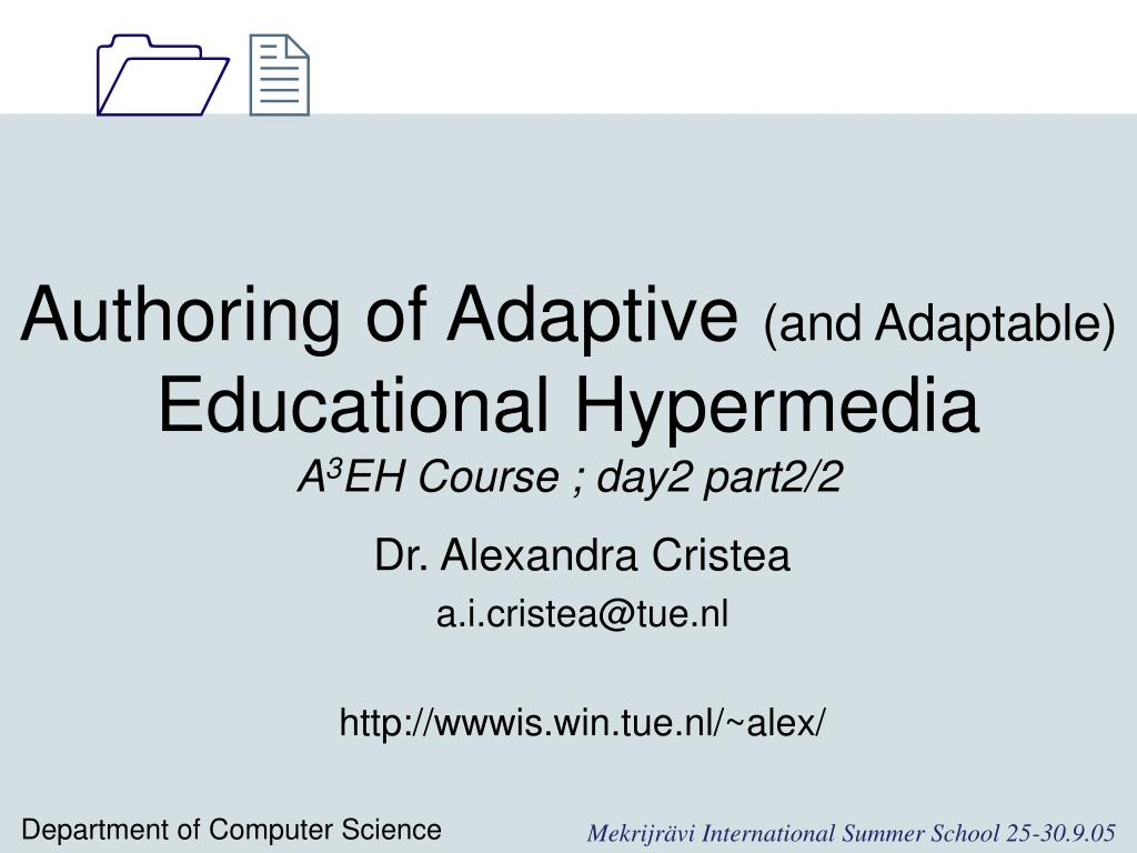 Authoring of Adaptive