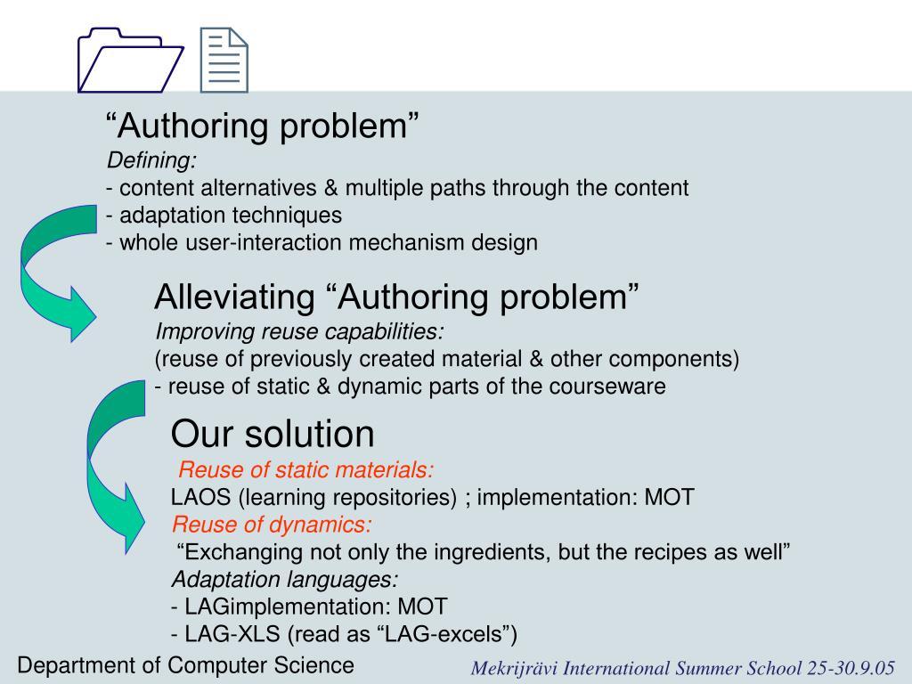 """""""Authoring problem"""""""