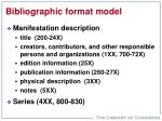 bibliographic format model