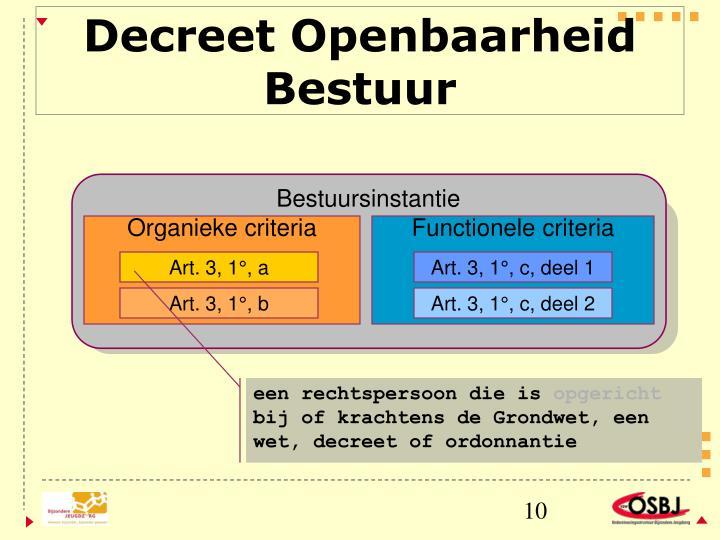 Decreet Openbaarheid Bestuur