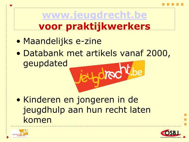 www.jeugdrecht.be