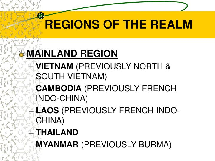 Regions of the realm