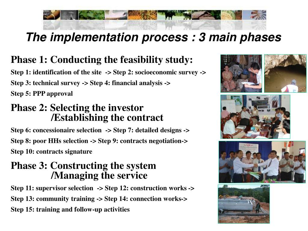 The implementation process : 3 main phases