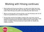working with hmong continues