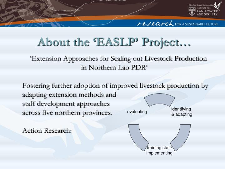 About the easlp project