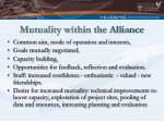 mutuality within the alliance