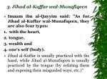3 jihad al kuffar wal munafiqeen