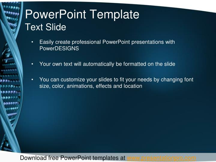 Powerpoint template text slide