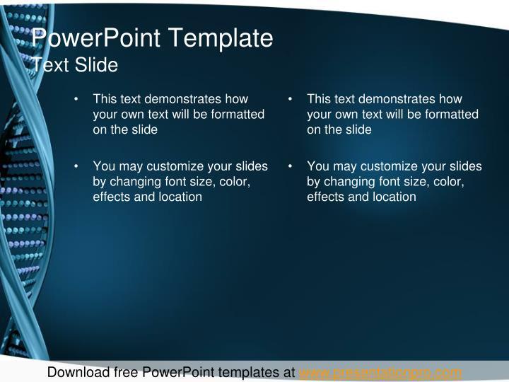 Powerpoint template text slide3