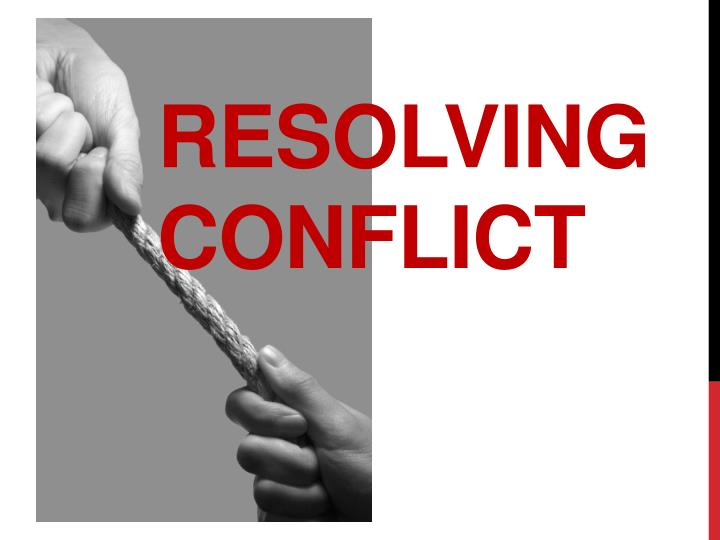 resolving conflict n.