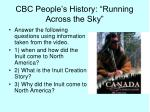 cbc people s history running across the sky