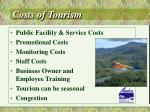 costs of tourism