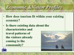 economic visitor profiles
