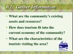 i 2 gather information