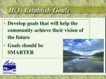 ii 3 establish goals