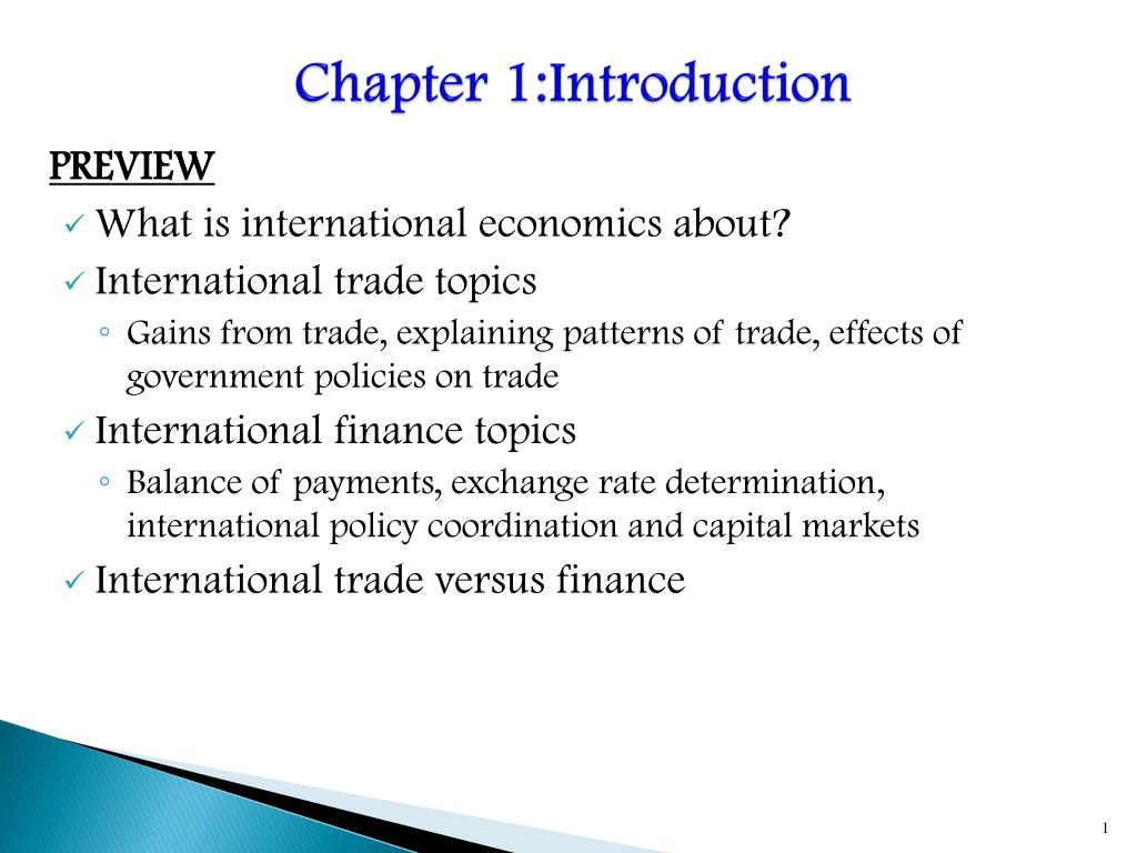 international economics topics