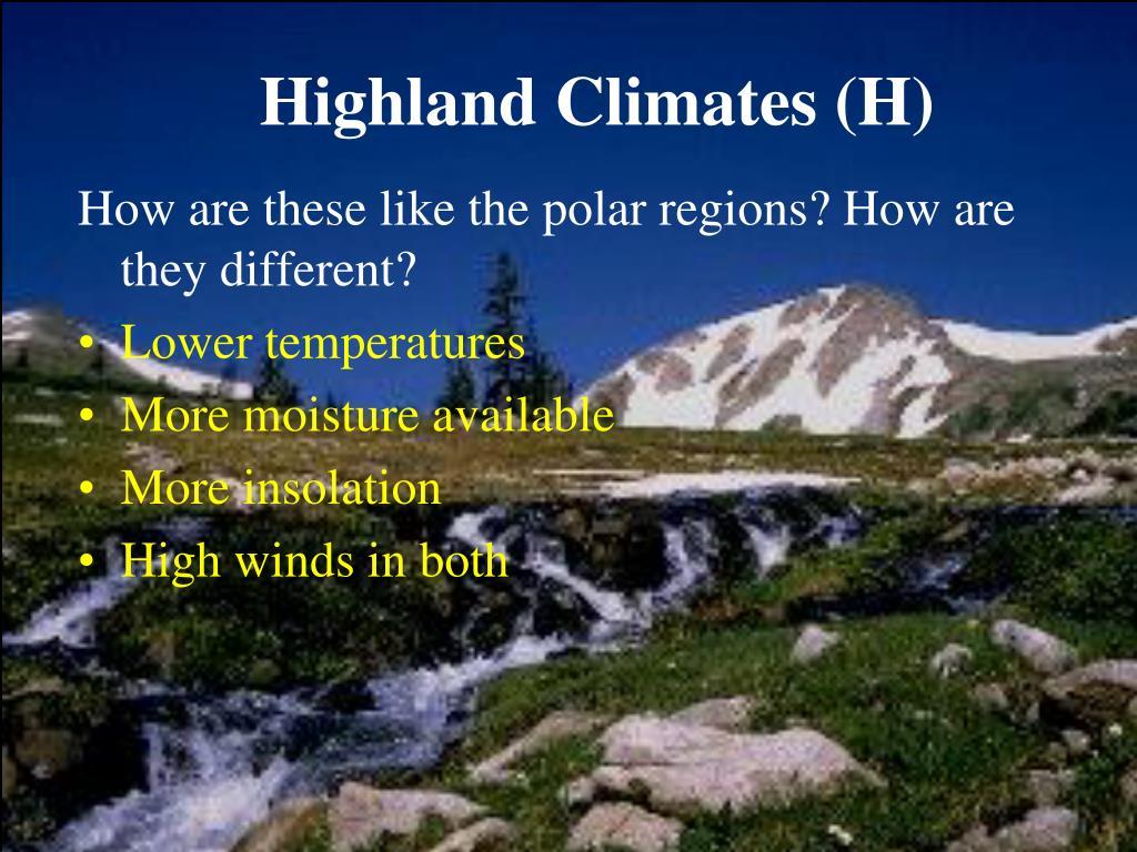Highland Climates (H)