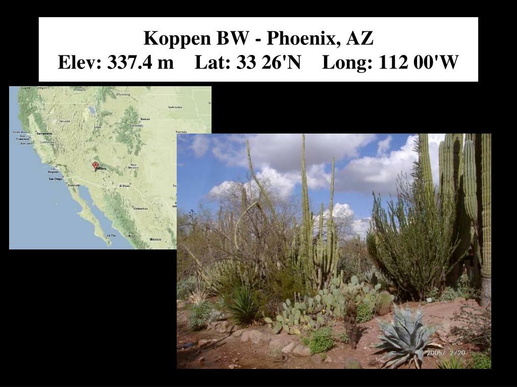 Koppen BW - Phoenix, AZ