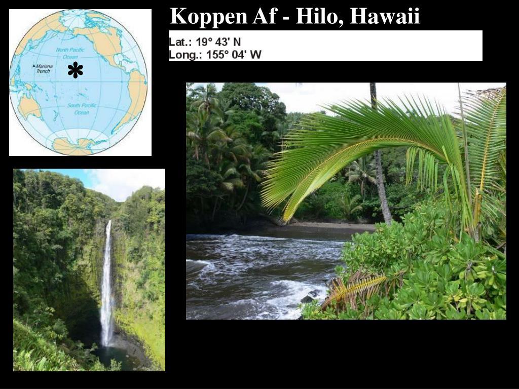Koppen Af - Hilo, Hawaii