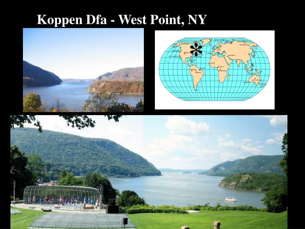Koppen Dfa - West Point, NY
