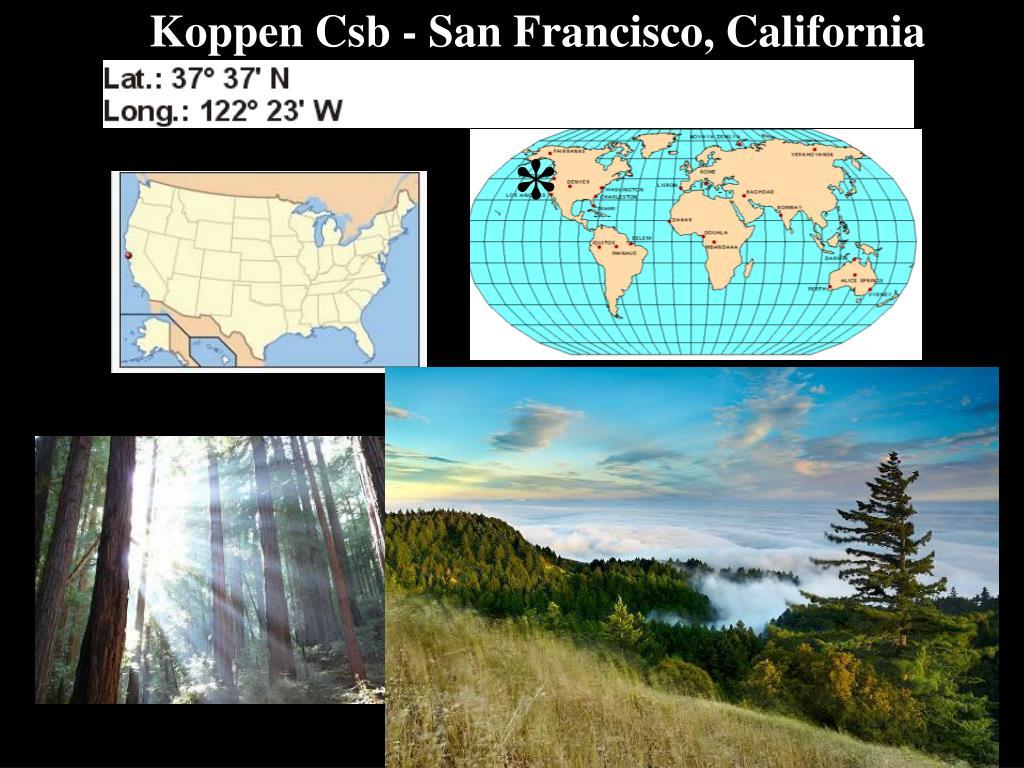 Koppen Csb - San Francisco, California