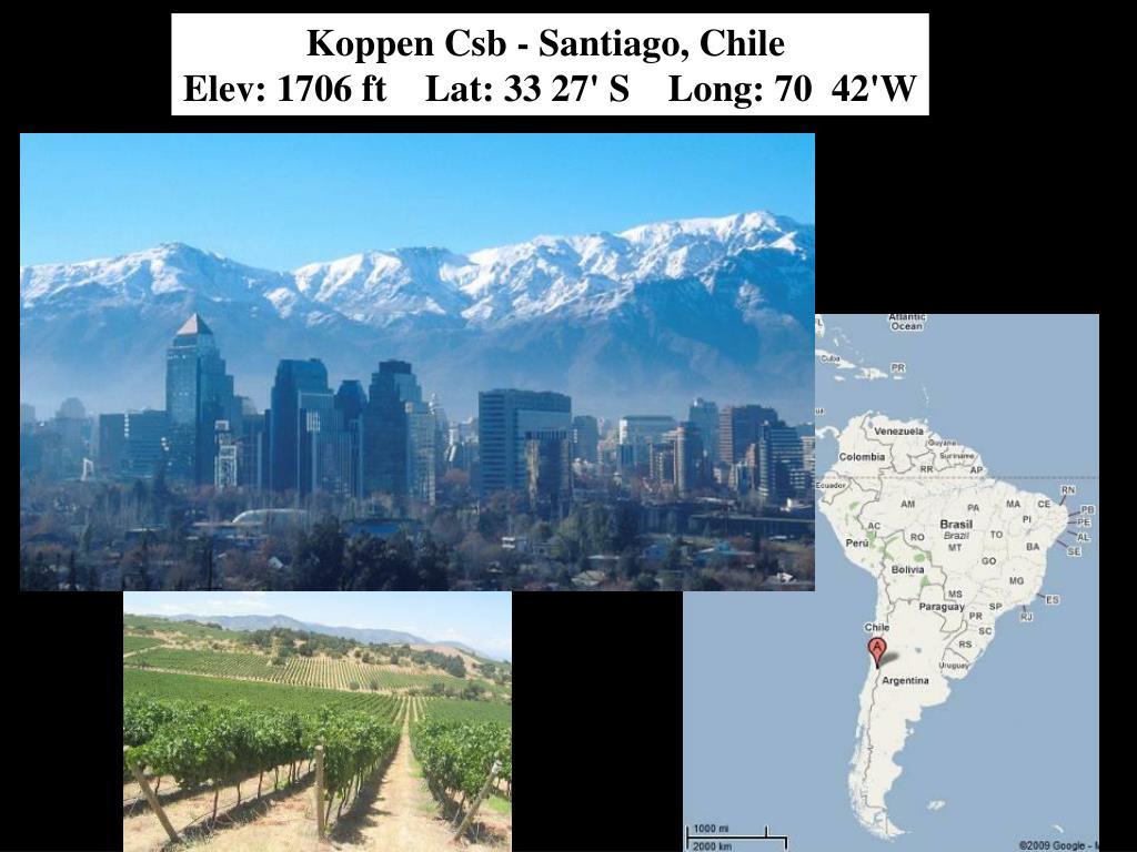 Koppen Csb - Santiago, Chile