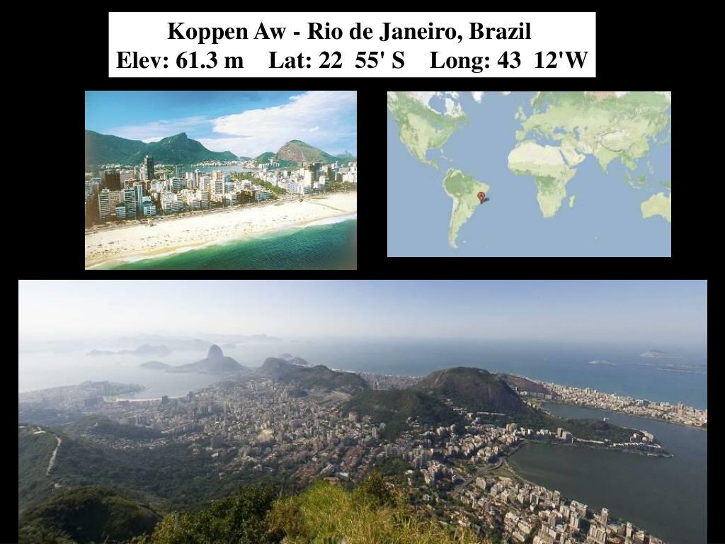 Koppen Aw - Rio de Janeiro, Brazil