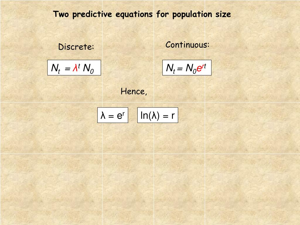Two predictive equations for population size