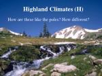 highland climates h