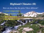 highland climates h56