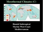 mesothermal climates c36
