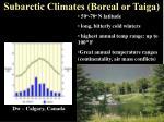 subarctic climates boreal or taiga