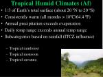 tropical humid climates af