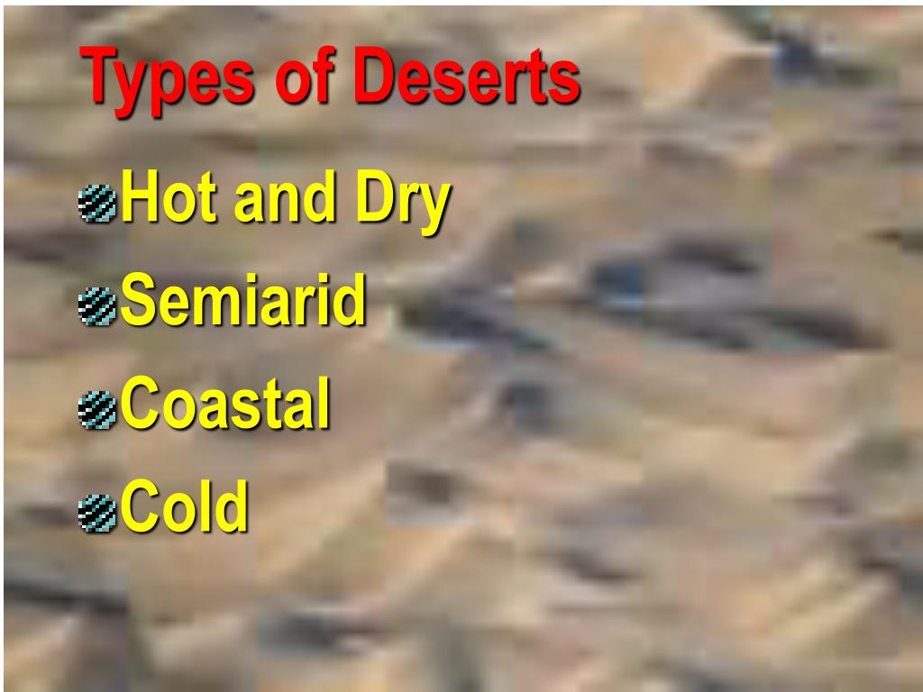 Types of Deserts
