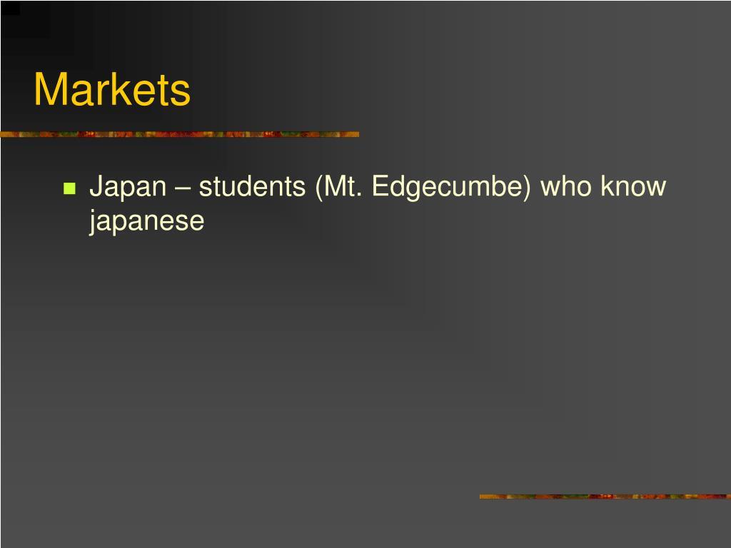 Japan – students (Mt. Edgecumbe) who know japanese