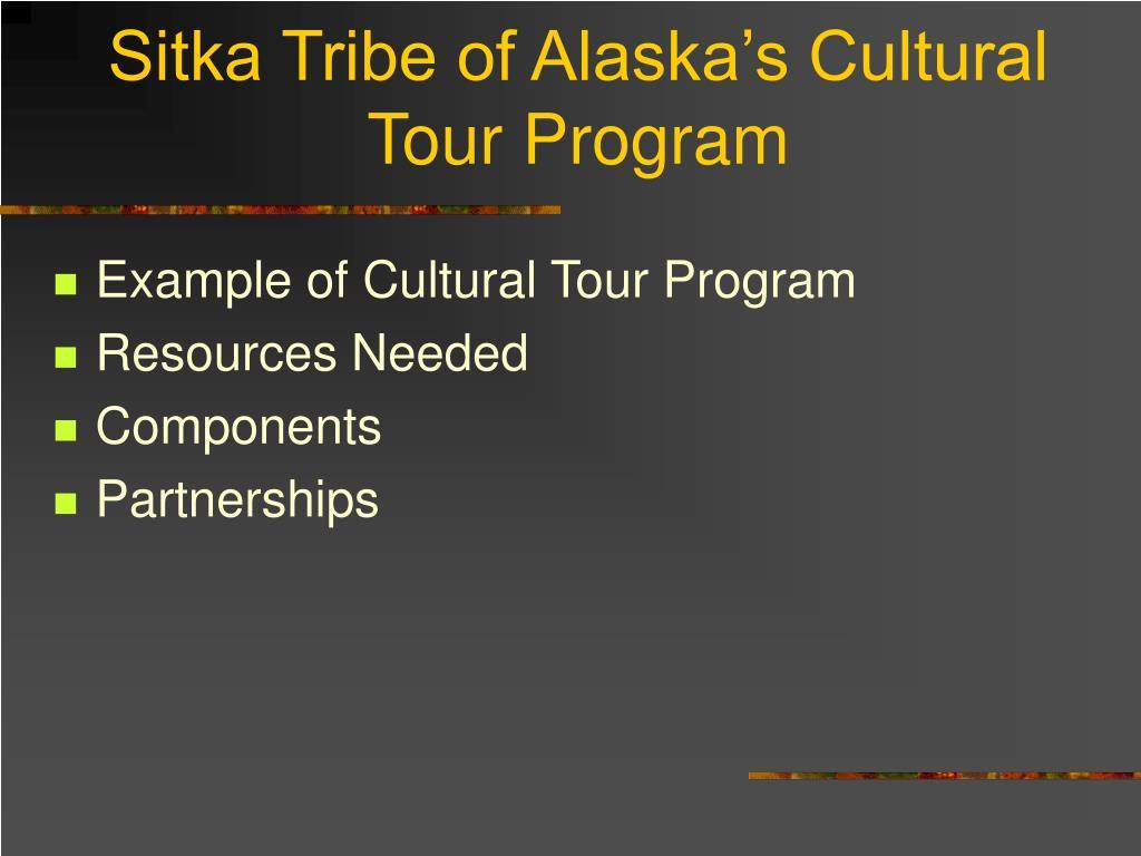 Sitka Tribe of Alaska's Cultural Tour Program