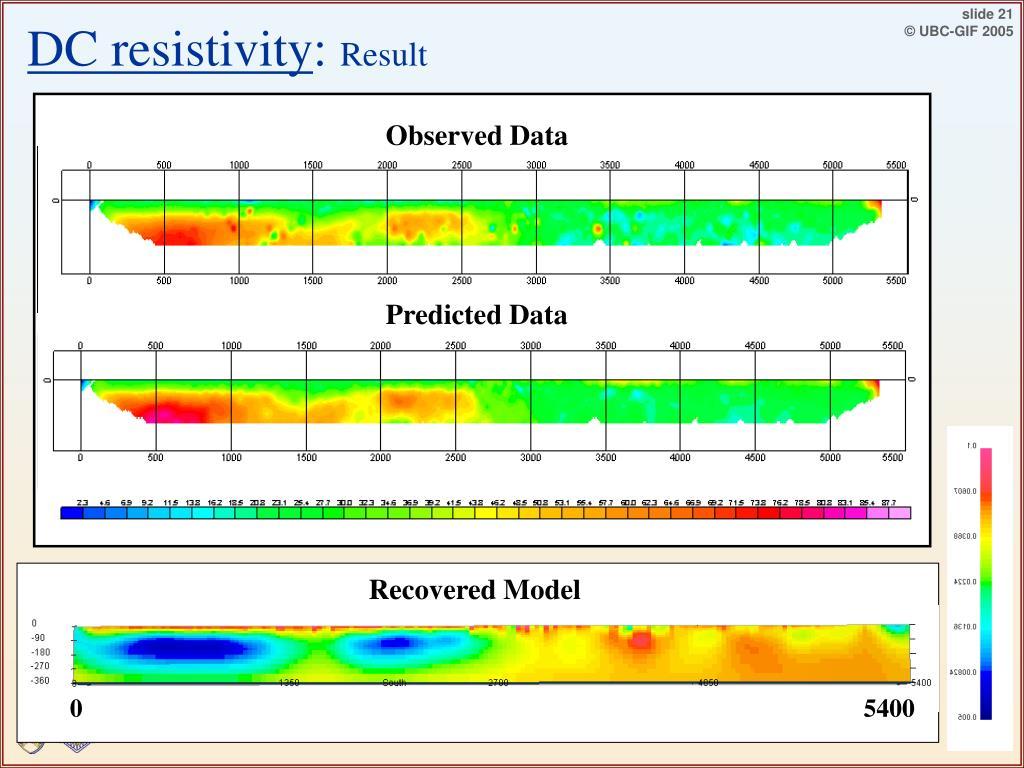 DC resistivity