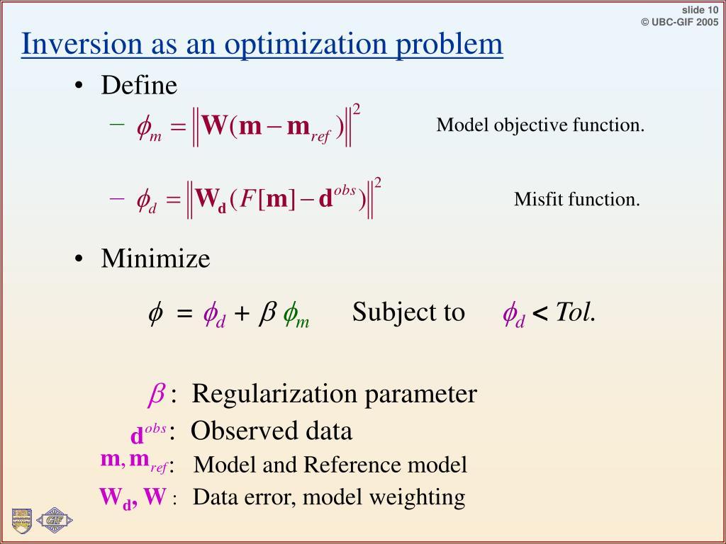 Inversion as an optimization problem