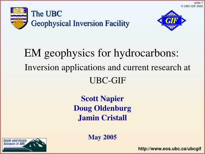 The ubc geophysical inversion facility