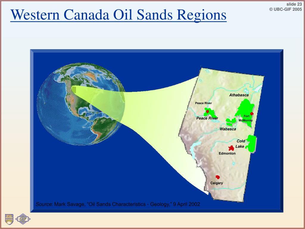 Western Canada Oil Sands Regions