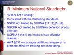 b minimum national standards
