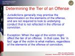 determining the tier of an offense