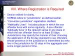 viii where registration is required