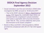 oedca final agency decision september 2012