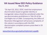 va issued new eeo policy guidance may 31 2012