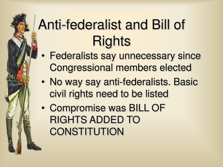 Federalists say unnecessary since Congressional members elected