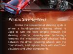 what is steer by wire
