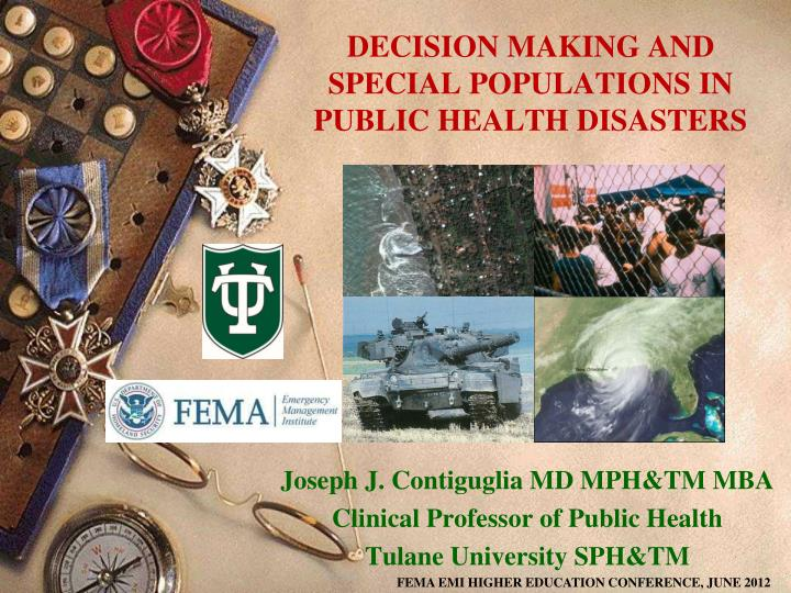 decision making and special populations in public health disasters n.